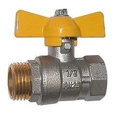 фото Газовые фитинги: Кран газовый шаровой G-BEKA 1/2 дюйма Г/Ш
