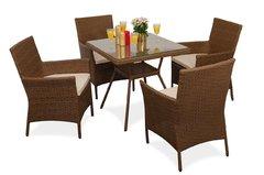 фото Комплект мебели ПРАГА (квадратный стол)