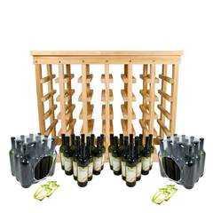фото Комплект бутылок «тоскана» 48 шт. + полка