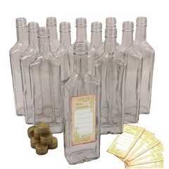 фото Комплект бутылок ИВА 0,5 л с алюминиевыми колпачками (12 шт.)
