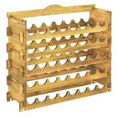 фото Подставка-полка для винных бутылок (40 бутылок) орех