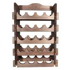 фото Подставка-полка для винных бутылок (20 бутылок) орех