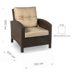 Размер №1 Кресло ЛИВАДИЯ