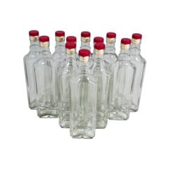 фото Бутылки «сияние» 0,5 л (12 шт.) с пробками