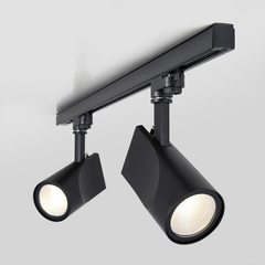 фото Трековый светодиодный светильник для трехфазного шинопровода Vista Черный 32W 4200K LTB16