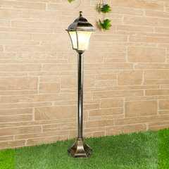 фото Apus F черное золото уличный светильник на столбе GL 1009F
