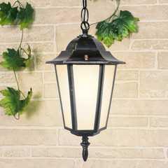 фото уличный подвесной светильник GL 1004H черное золото
