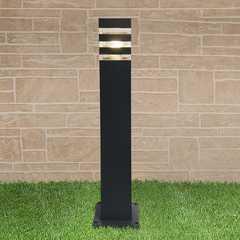фото уличный светильник на столбе 1550 TECHNO черный
