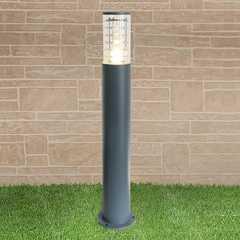 фото уличный светильник на столбе 1507 TECHNO серый