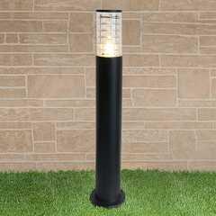 фото уличный светильник на столбе 1507 TECHNO черный