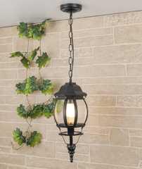 фото уличный подвесной светильник GL 1001H черный