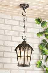 фото Подвесной уличный светильник Mira H черное золото