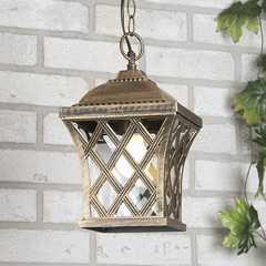 фото уличный подвесной светильник Cassiopeya H черное золото