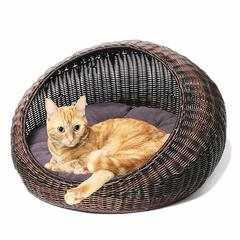 фото Лежанка круглая для кошки или собаки
