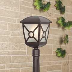 фото Columba F коричневый уличный светильник на столбе IP44 GL 1022F