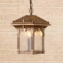фото Corvus H черное золото уличный подвесной светильник IP33 GL 1021H