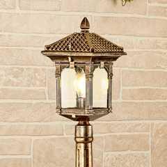 фото Corvus F черное золото уличный светильник на столбе IP44 GL 1021F