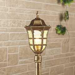 фото Dorado F черное золото уличный светильник на столбе IP44 GL 1013F