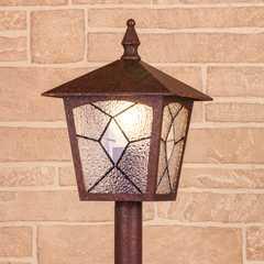 фото Lyra F брауни уличный светильник на столбе IP44 GL 1012F