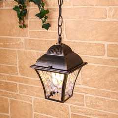 фото Apus H черное золото уличный подвесной светильник IP33 GL 1009H