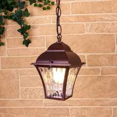 фото Apus H шоколад уличный подвесной светильник IP33 GL 1009H