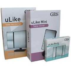 фото Складное трехстворчатое косметическое зеркало uLike Porto для макияжа с подсветкой, 8 LED ламп, GESS