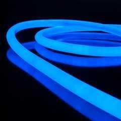 фото Комплект  гибкого неона круглого синего 10 м 9,6 Вт/м 144 LED 2835 IP67 16 мм LS003 220V