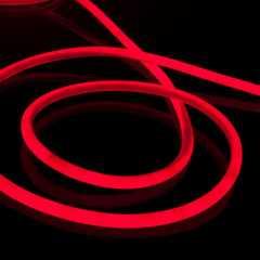 фото Комплект гибкого неона круглого красного 10 м 9,6 Вт/м 144 LED 2835 IP67 16мм LS003 220V