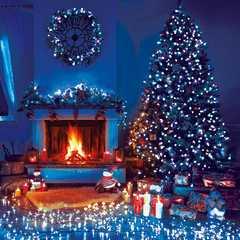 фото Праздничная гирлянда НИТЬ голубой 5м IP20 400-001