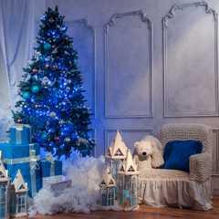 фото Праздничная гирлянда НИТЬ голубой 10м IP20 400-002