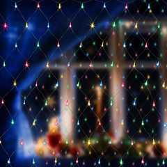фото Праздничная гирлянда СЕТЬ мульти 1,5*1,5м IP20 300-001