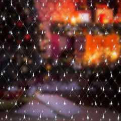 фото Праздничная гирлянда СЕТЬ белый 1,5*1,5м IP20 300-001