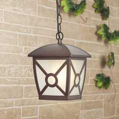 фото Columba H коричневый уличный подвесной светильник IP33 GL 1022H
