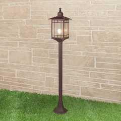 фото Vela F кофейное золото уличный светильник на столбе IP44 GL 1019F