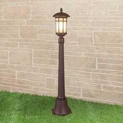 фото Lepus F кофейное золото уличный светильник на столбе IP44 GL 1016F
