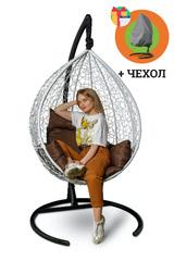 фото Подвесное кресло-кокон SEVILLA белое + каркас
