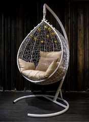фото Подвесное кресло-кокон SEVILLA белоснежное + каркас