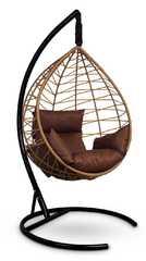 фото Подвесное кресло-кокон ALICANTE рыжий + каркас