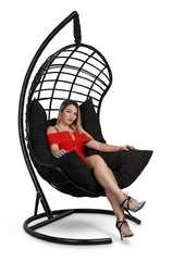 фото Подвесное кресло-кокон БАРСЕЛОНА ПЛЮС + каркас