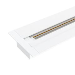 фото Встраиваемый однофазный шинопровод 1 метр белый (с вводом питания и заглушкой) TRLM-1-100-WH