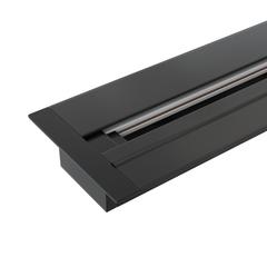 фото Встраиваемый однофазный шинопровод 1 метр черный (с вводом питания и заглушкой) TRLM-1-100-BK