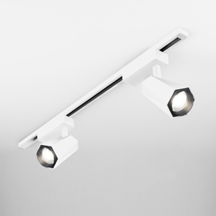 фото Трековый светодиодный светильник для однофазного шинопровода Magnum белый матовый 20W 4200K LTB46