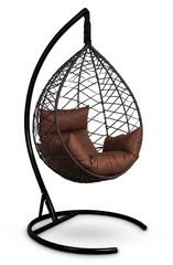 фото Подвесное кресло-кокон ALICANTE коричневое + каркас