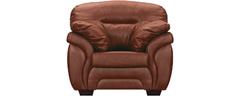 фото Кресло мягкое кожаное БРИСТОЛЬ (коричневое)