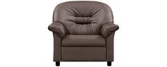 фото Кресло мягкое кожаное ЖЕНЕВА (шоколадное)