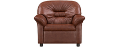 фото Кресло мягкое кожаное ЖЕНЕВА (коричневое)