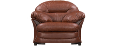фото Кресло мягкое кожанное ЛАНКАСТЕР (темно-коричневое)