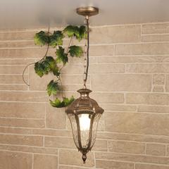 фото Draco H черное золото уличный подвесной светильник IP44 GL 1010H