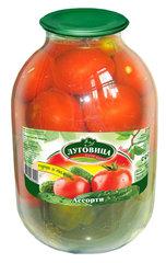 фото Ассорти томаты и огурцы консервированное с зеленью 3000 гр