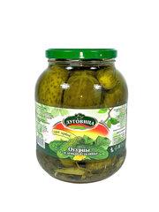 фото Огурцы консервированные Луговица с зеленью в заливке ГОСТ  1500 мл